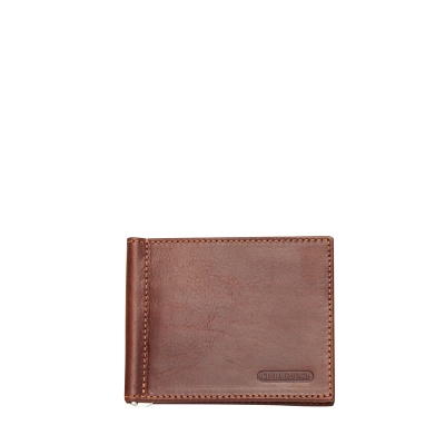 Кафяв картодържател с щипка за пари CHIARUGI