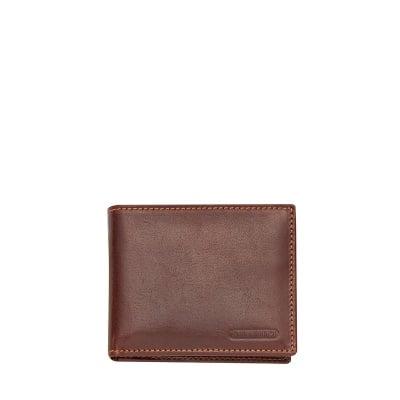 Кафяв портфейл от естествена кожа CHIARUGI