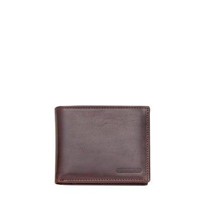 Тъмно кафяв портфейл от естествена кожа CHIARUGI