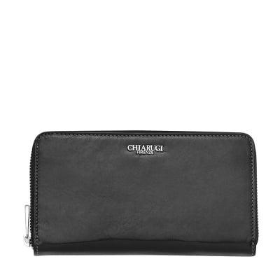 Черно дамско портмоне с цип CHIARUGI