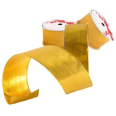 Лента плътно злато 38мм.- цена на едро