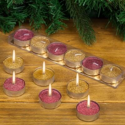 Коледни чаени свещи 6бр.