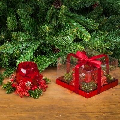 Коледен свещник + свещ