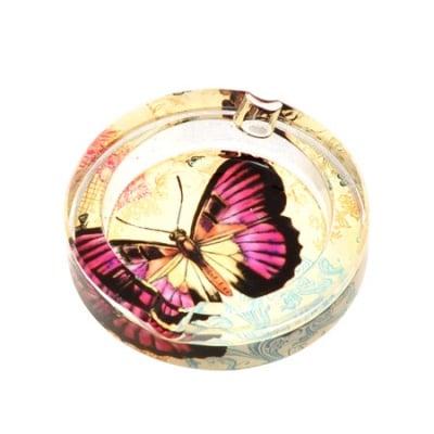 Пепелник с пеперуда малък