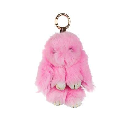Ключодържател розово зайче