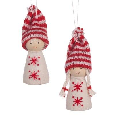 Коледни куклички със снежинки 2бр.