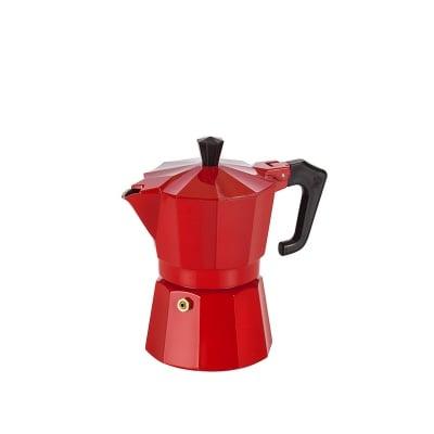 Италианска кафеварка червена / за 2 чаши