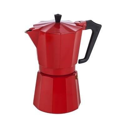 Италианска кафеварка червена за 6 чаши