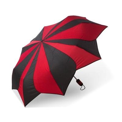 Дамски чадър PIERRE CARDIN черно и червено