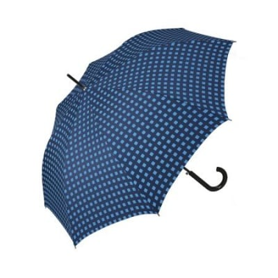 Дамски чадър PIERRE CARDIN - син с бели точки