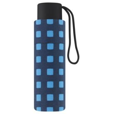 Дамски чадър PIERRE CARDIN - малък със сини квадрати