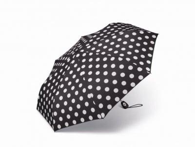Дамски чадър PIERRE CARDIN черен с бели точки