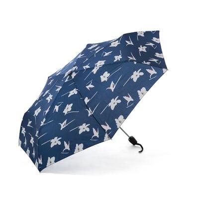 Дамски син чадър с орхидея - Pierre Cardin