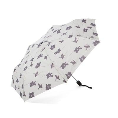 Дамски бял чадър с орхидея - Pierre Cardin
