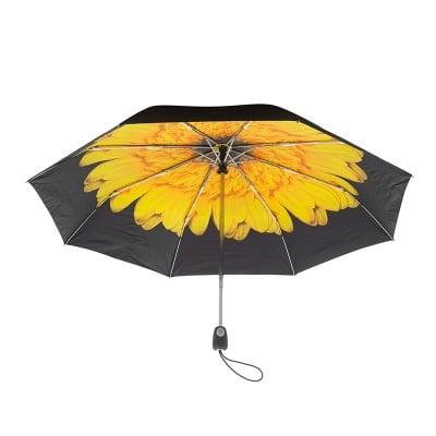 Дамски чадър с жълто цвете - PIERRE CARDIN