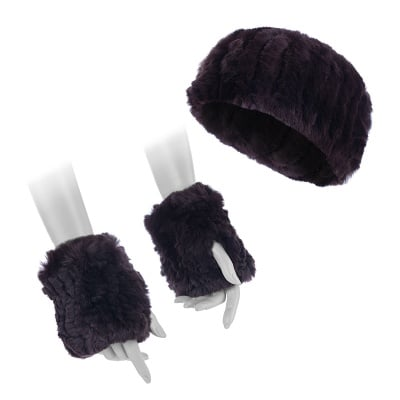 Кафяв сет лента с ръкавици - ROSSI