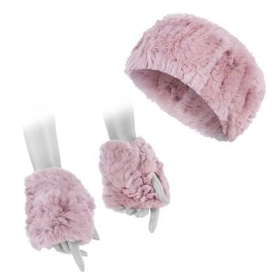 Розов сет лента с ръкавици - ROSSI