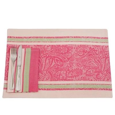 Комплект за маса светло розово