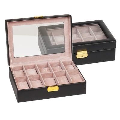 Кутия за часовници черна