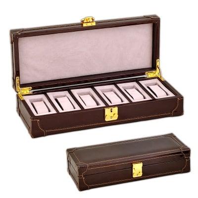 Кутия за часовници кафява