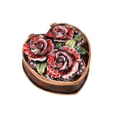 Кутия за бижута роза кафява