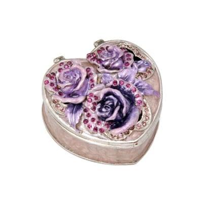 Кутия за бижута роза светла