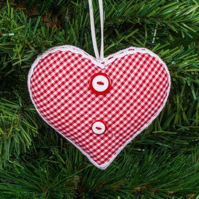 Коледна играчка сърце