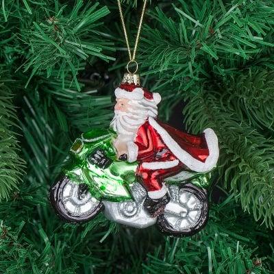 Стъклена играчка Дядо Коледа с мотор