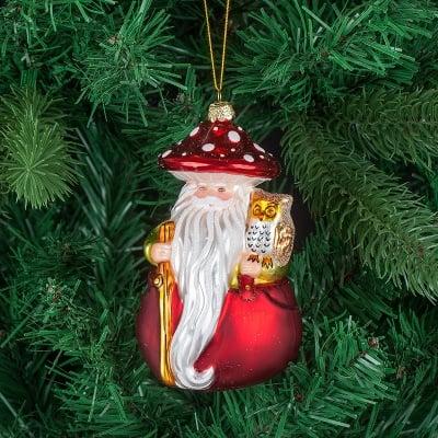 Стъклена играчка Дядо Коледа