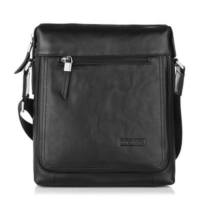 Черна чанта SILVER FLAME - средна