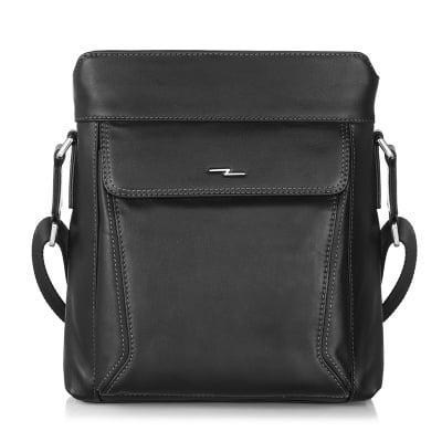 Мъжка средна чанта SILVER FLAME - черна