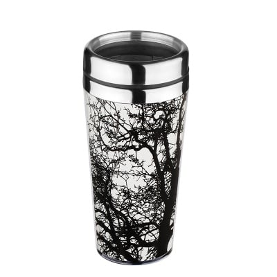 Термо чаша Дърво бяло - 18 см. - 470 мл.