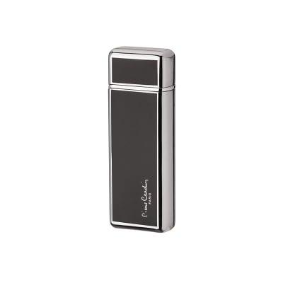 Луксозна запалка черно и сребърно с капаче Pierre Cardin