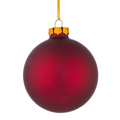 Стъклена топка бордо мат