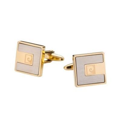 Копчета за ръкавели PIERRE CARDIN квадратни металик със златно