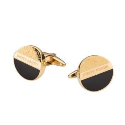 Копчета за ръкавели PIERRE CARDIN черно със златно