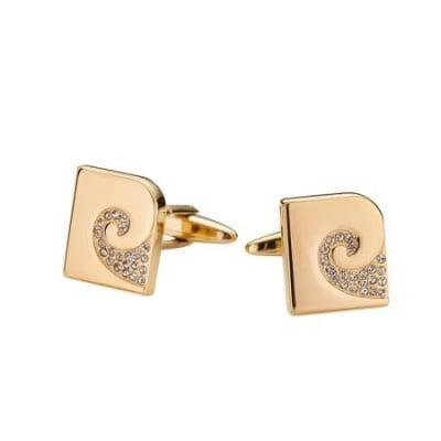 Копчета за ръкавели PIERRE CARDIN Gold с цирконий