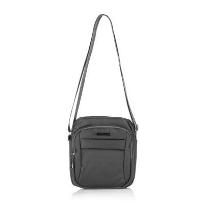 Мъжка чанта PIERRE CARDIN от плат сива
