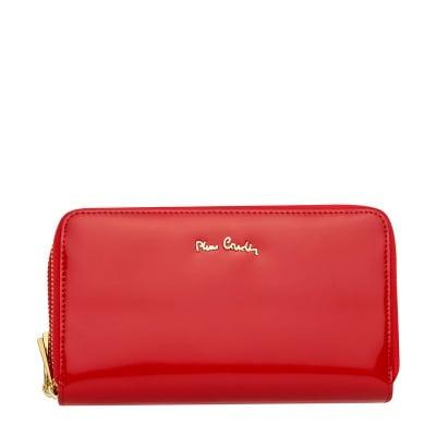 Дамско червено портмоне гланц PIERRE CARDIN