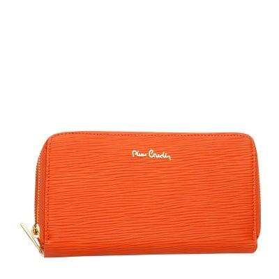Дамско портмоне оранжево с черти PIERRE CARDIN