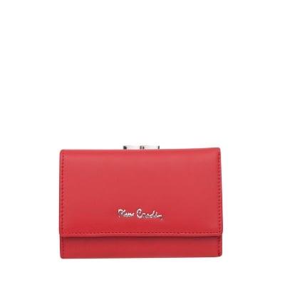 Дамско  червено портмоне с мат пачола PIERRE CARDIN