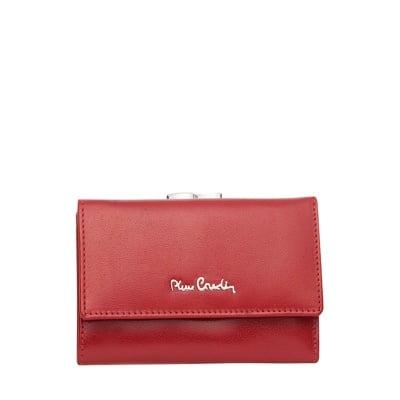 Дамско портмоне - червено гладко PIERRE CARDIN