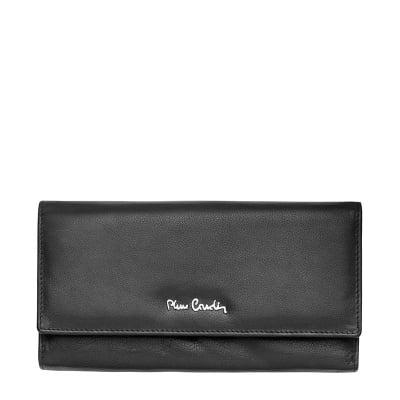 Дамско портмоне черно гланц PIERRE CARDIN