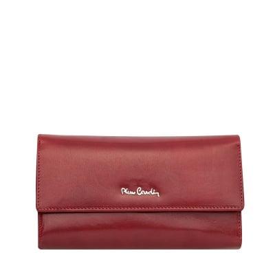 Дамско червено портмоне - гладка кожа PIERRE CARDIN