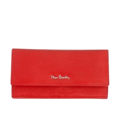 Дамско портмоне - червен дребен шагрен PIERRE CARDIN
