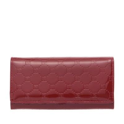 Дамско портмоне в бордо с щампа гланц - PIERRE CARDIN
