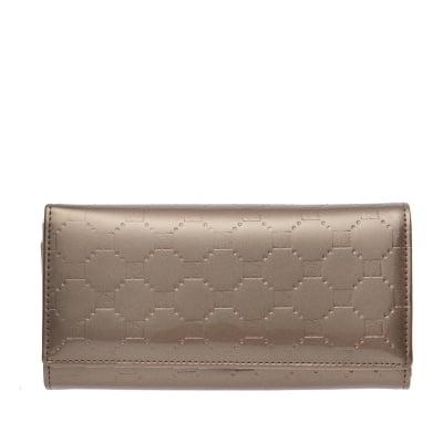 Дамско портмоне в златисто с  щампа гланц - PIERRE CARDIN