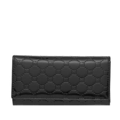 Дамско портмоне в черно с  щампа гланц - PIERRE CARDIN