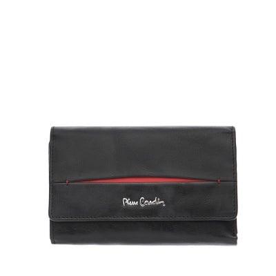 Дамско стилно портмоне с червена лента