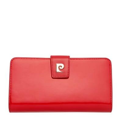 Дамско червено портмоне - голямо, гланц PIERRE CARDIN